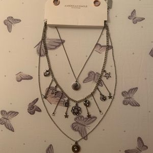 NWT American Eagle 3 piece layered necklace
